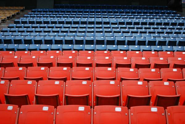 市民球場の内野席その2