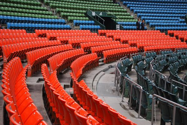 市民球場の内野席その6