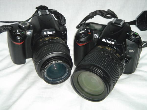 Nikon D60とNikon D90です