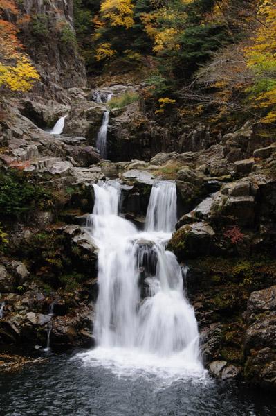 三段峡の三段滝