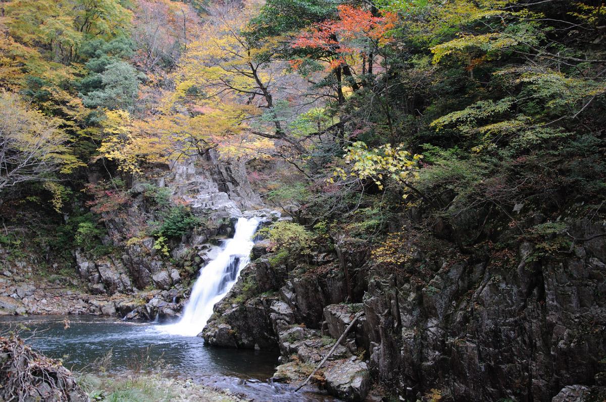 三段峡の三段滝その1