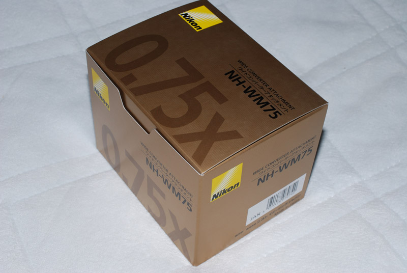 NH-WM75の箱