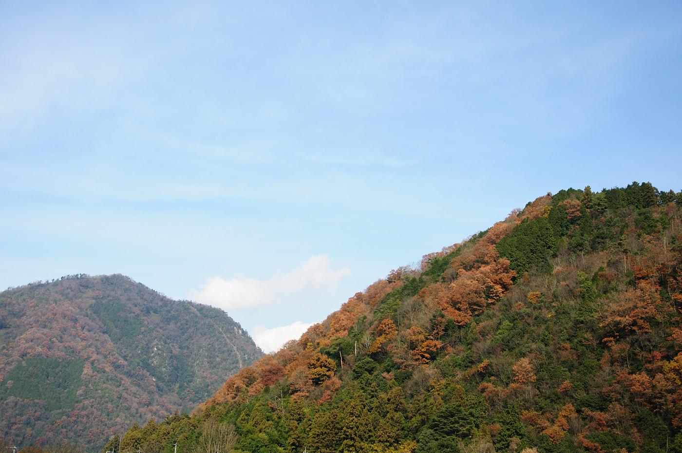 カラフルな山