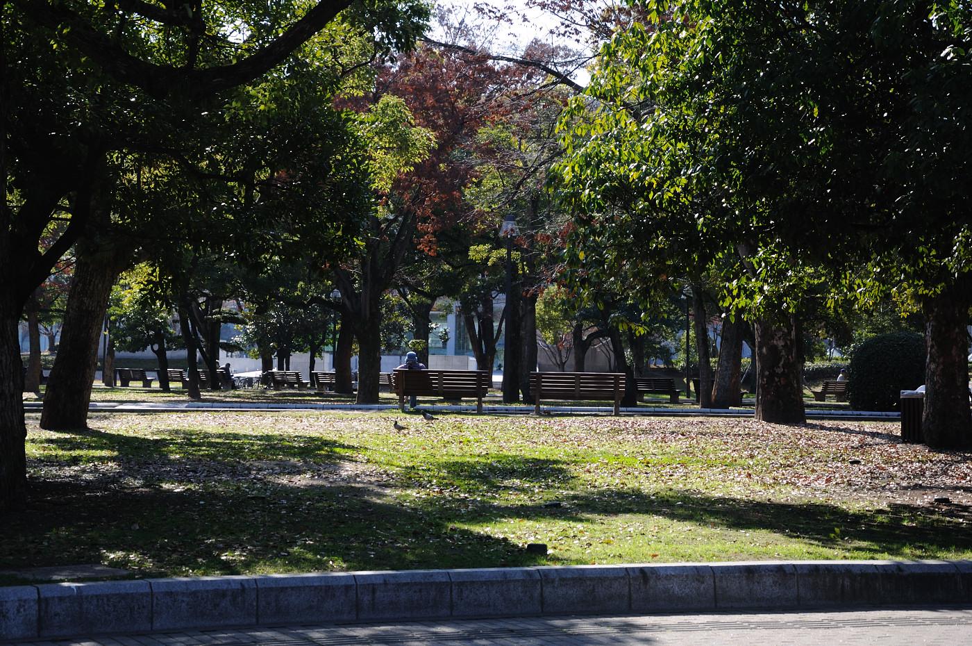 平和公園の敷地内の様子