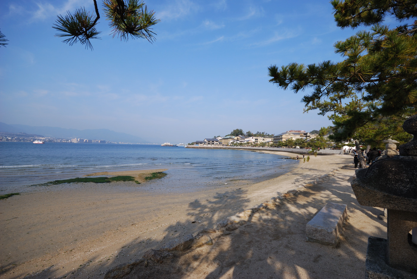 良い感じの砂浜です