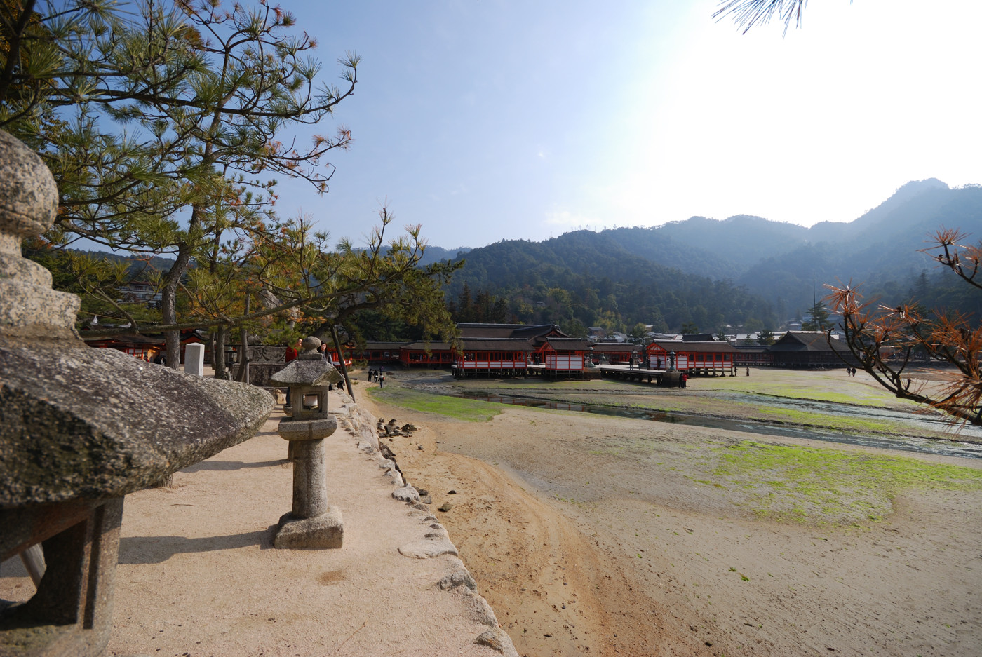 厳島神社の本殿を外から~