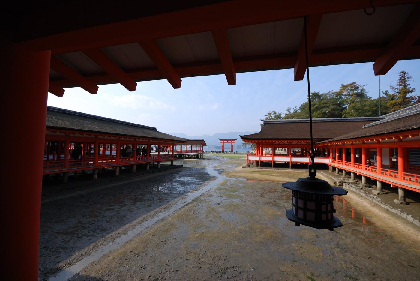 厳島神社の中から撮影その4