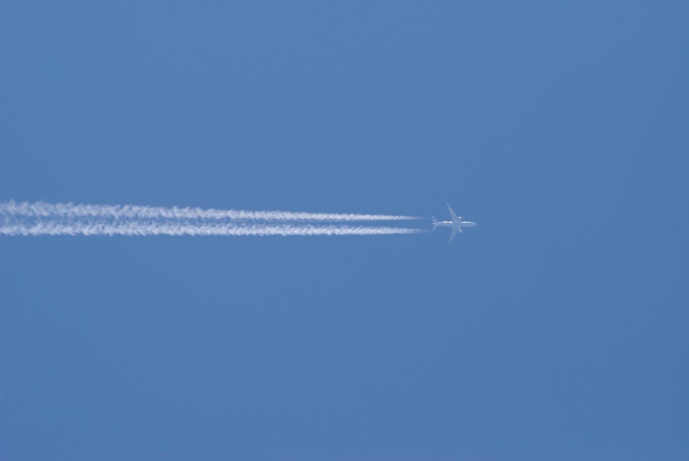飛行機雲で~す