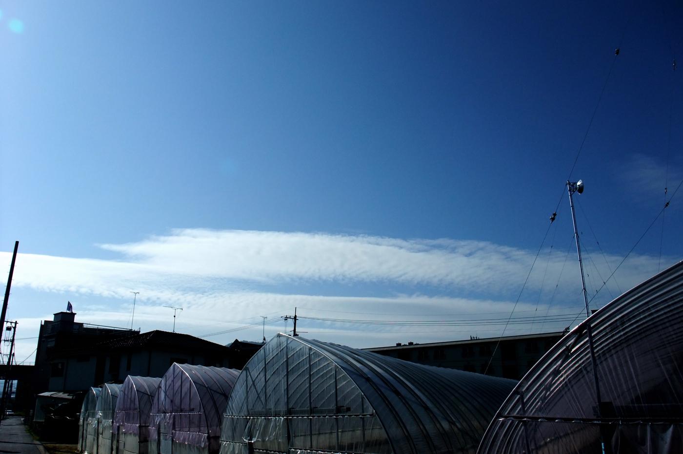 キレイな青空と雲