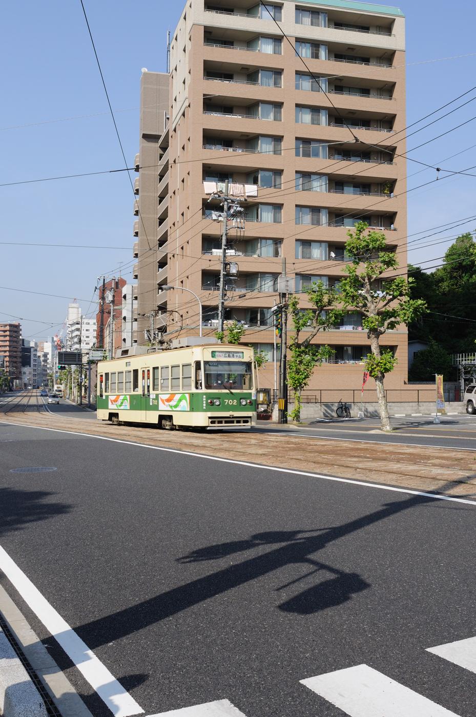 広島港行きの電車!