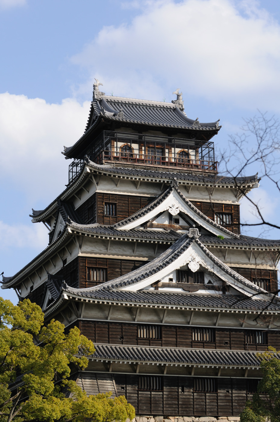 望遠で広島城だじぇ~