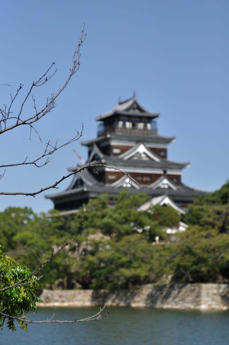 広島城とボケ