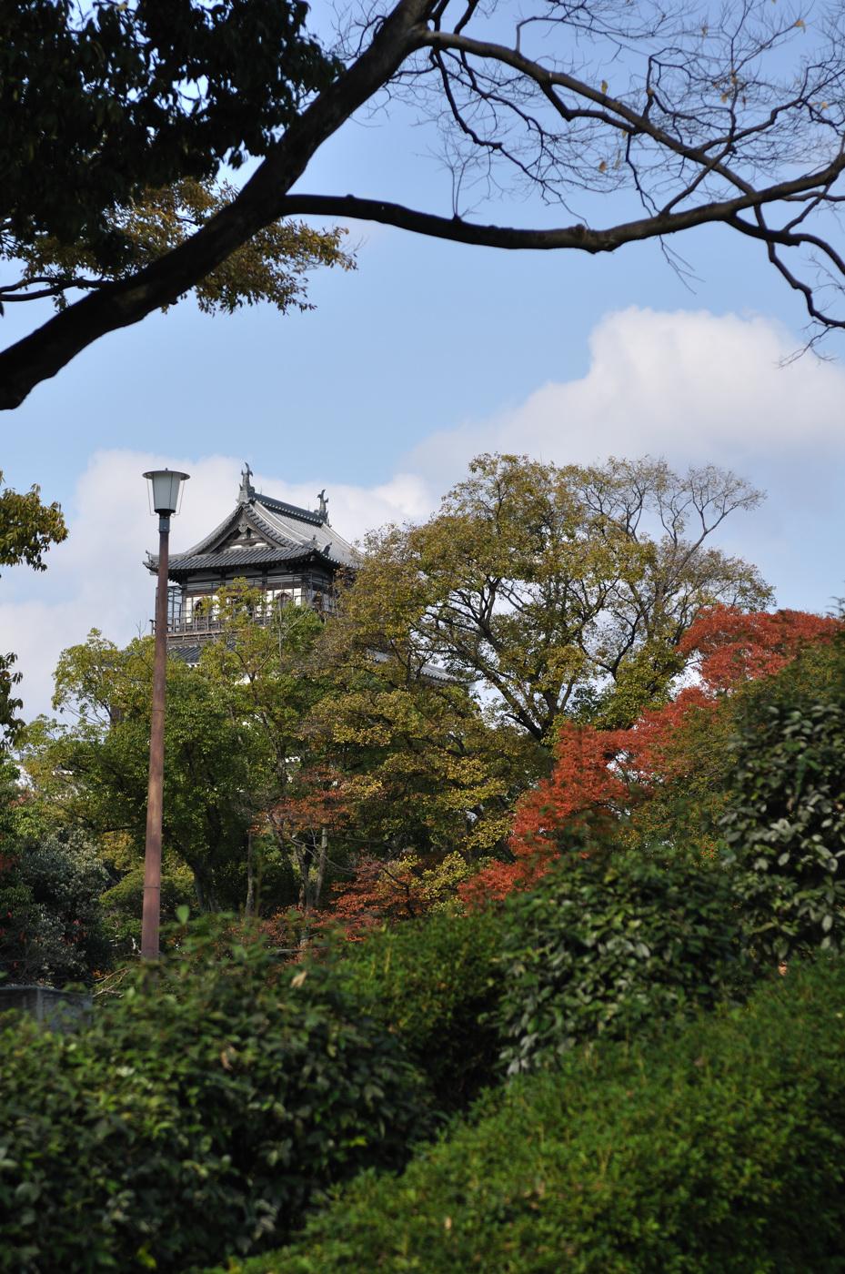 紅葉と広島城
