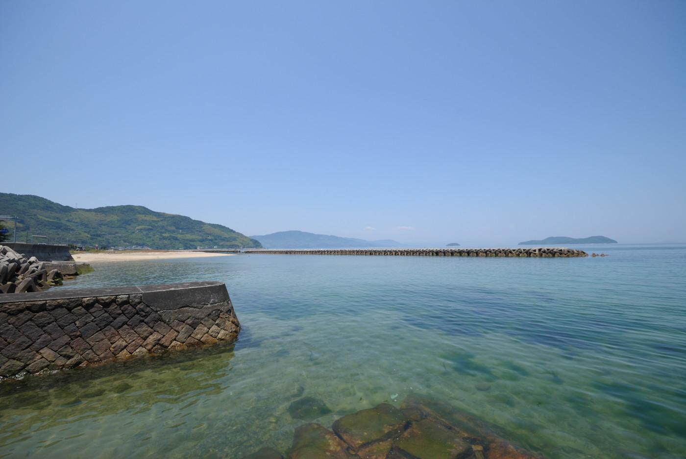 久賀付近の海