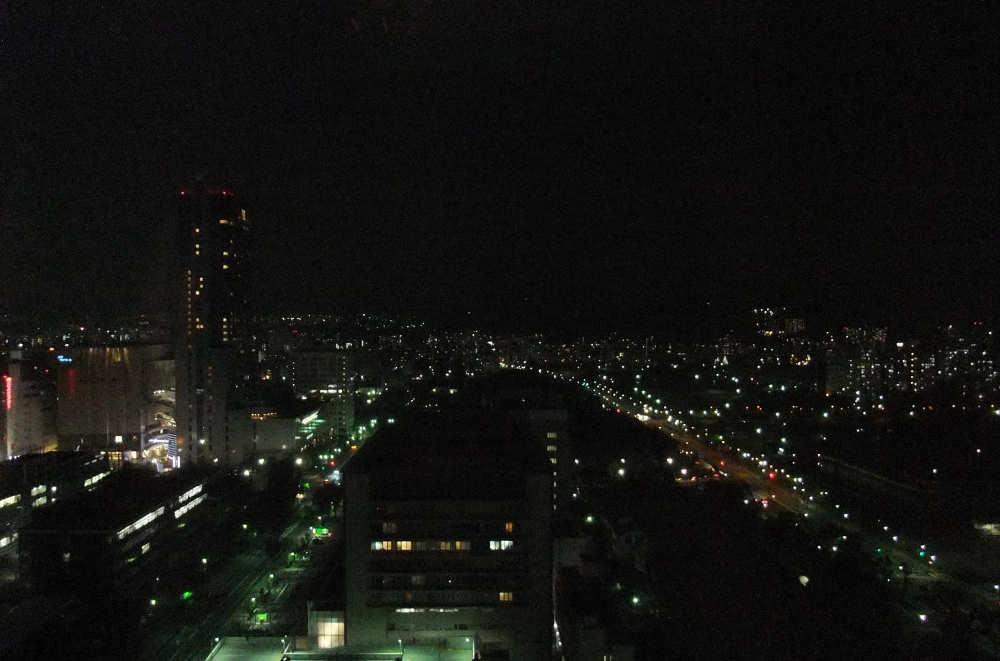 職場から夜景