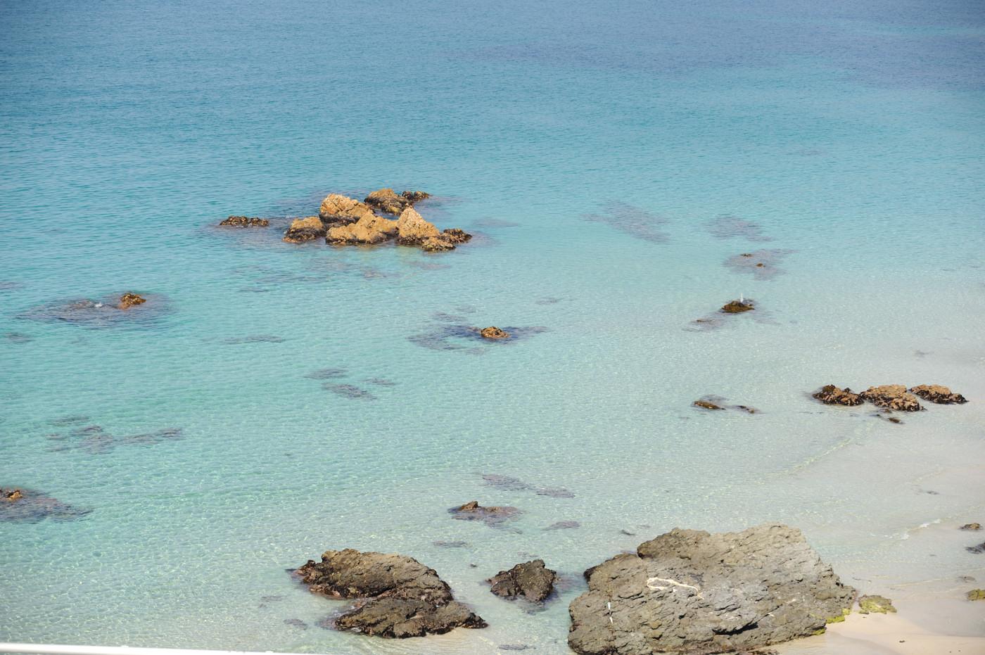 角島の海を望遠でその2