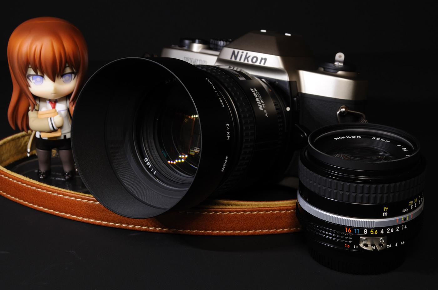 Ai AF Nikkor 85mm F1.8DとAi Nikkor 50mm F1.4Sと牧瀬紅莉栖でゲソ