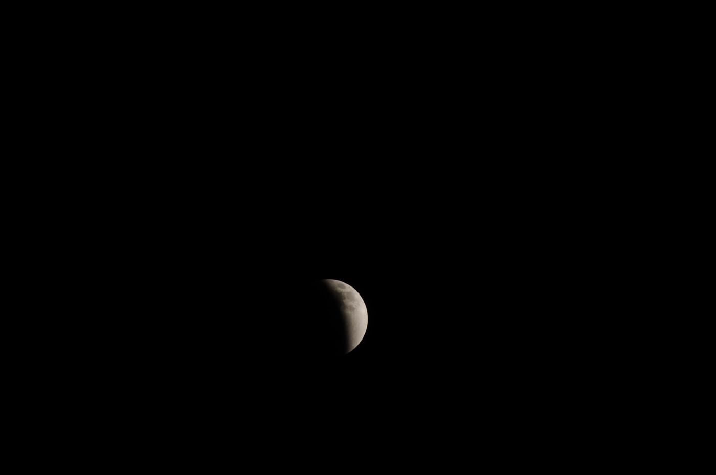 月がかなり欠けているでゲソ